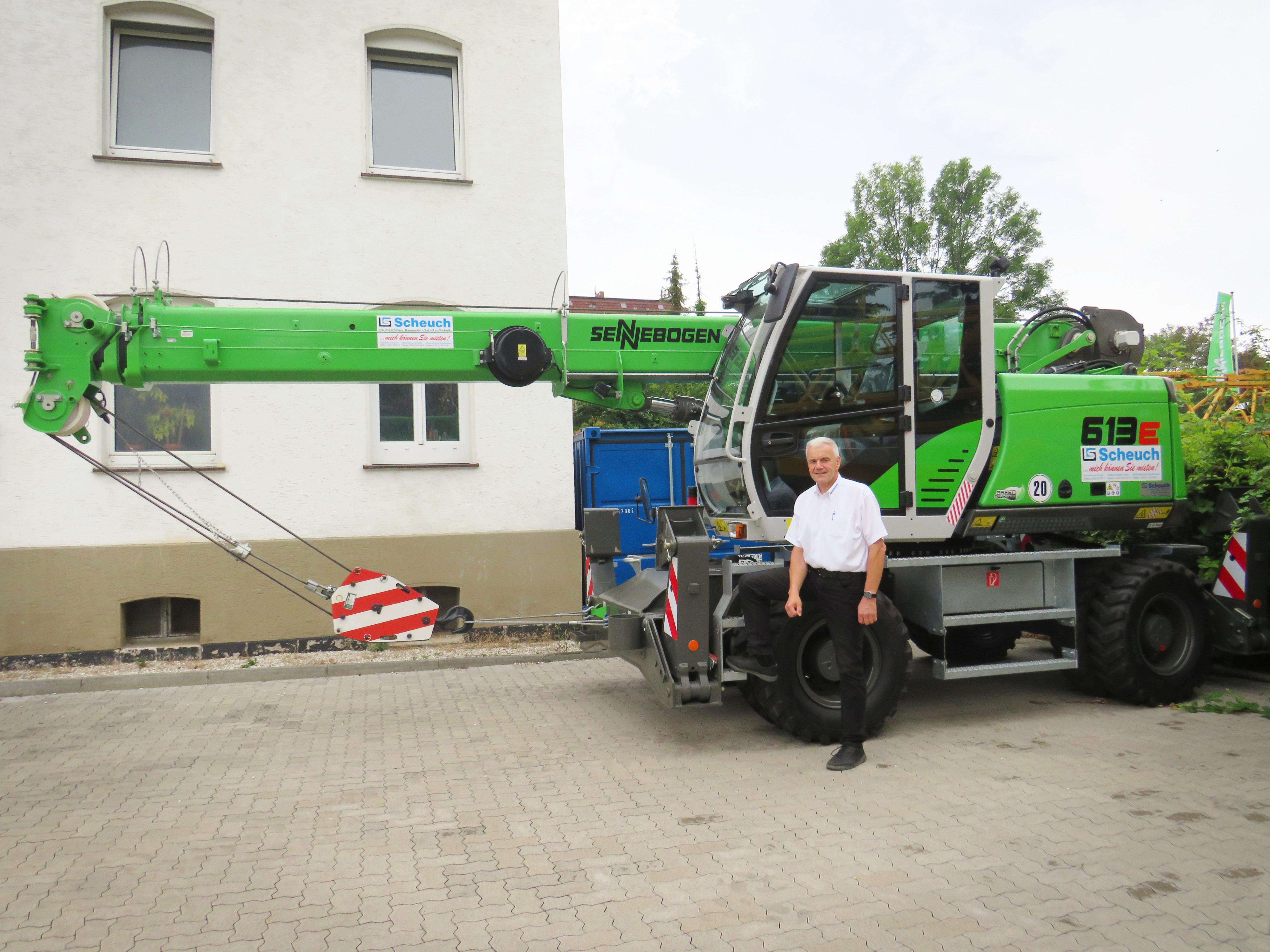Teleskopkran Tele-Kran Kran Sennebogen 613E Mobil neu in unserem Mietpark